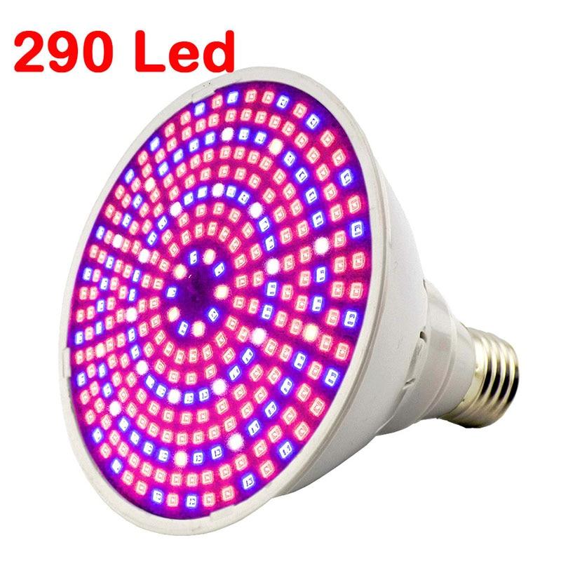 Полный спектр Светодиодная лампа для роста растений лампа светильник ing для семян гидро цветок теплица Veg Крытый сад E27 phyto growbox - Испускаемый цвет: 290 led