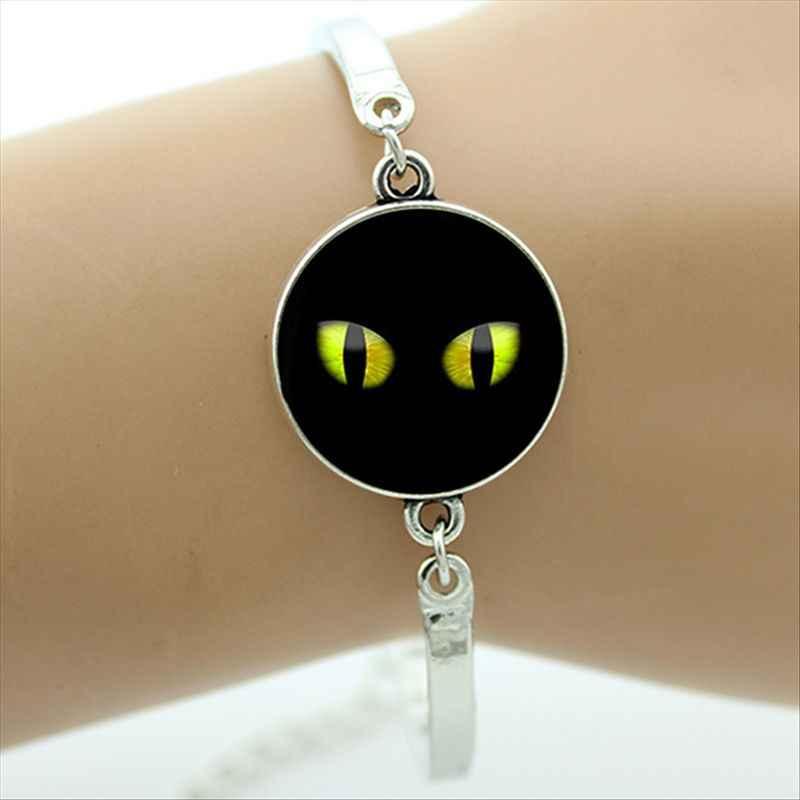 Bracelet mauvais œil dôme en verre plaqué argent bijoux en métal Bracelet bonne chance Talisman Art breloque bracelet bijoux