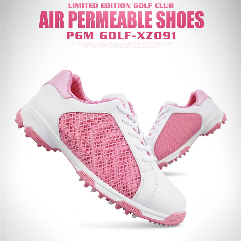 Pgm Golf Shoes Women Sneakers Lace Up Super Light Anti-Skid Comfortable Shoes Breathable Mesh Training Golf Shoes D0474Pgm Golf Shoes Women Sneakers Lace Up Super Light Anti-Skid Comfortable Shoes Breathable Mesh Training Golf Shoes D0474