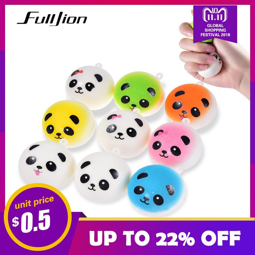 Fulljion Squishes Novelty Gag Toys Antistress Squishy Slow Rising Panda Squeeze Stress Relief Entertainment Fun Gadget For Phone portable folding 5v 15w double usb port solar charger mobile phone power mp3 mp4 gps camera game solar panels outdoor charging