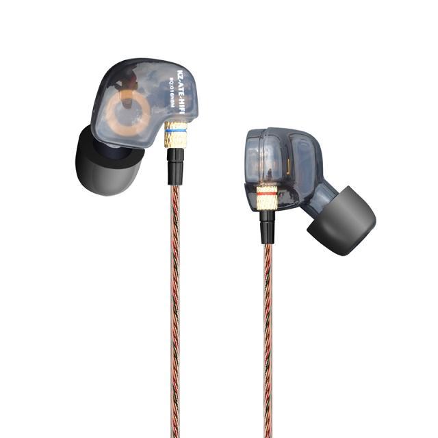KZ ATE/KZ-ATE Translucent in ear Earphone HIFI music Bass Headset Earphones noise isolating Phone PC earphones headsets наушники kz lp2