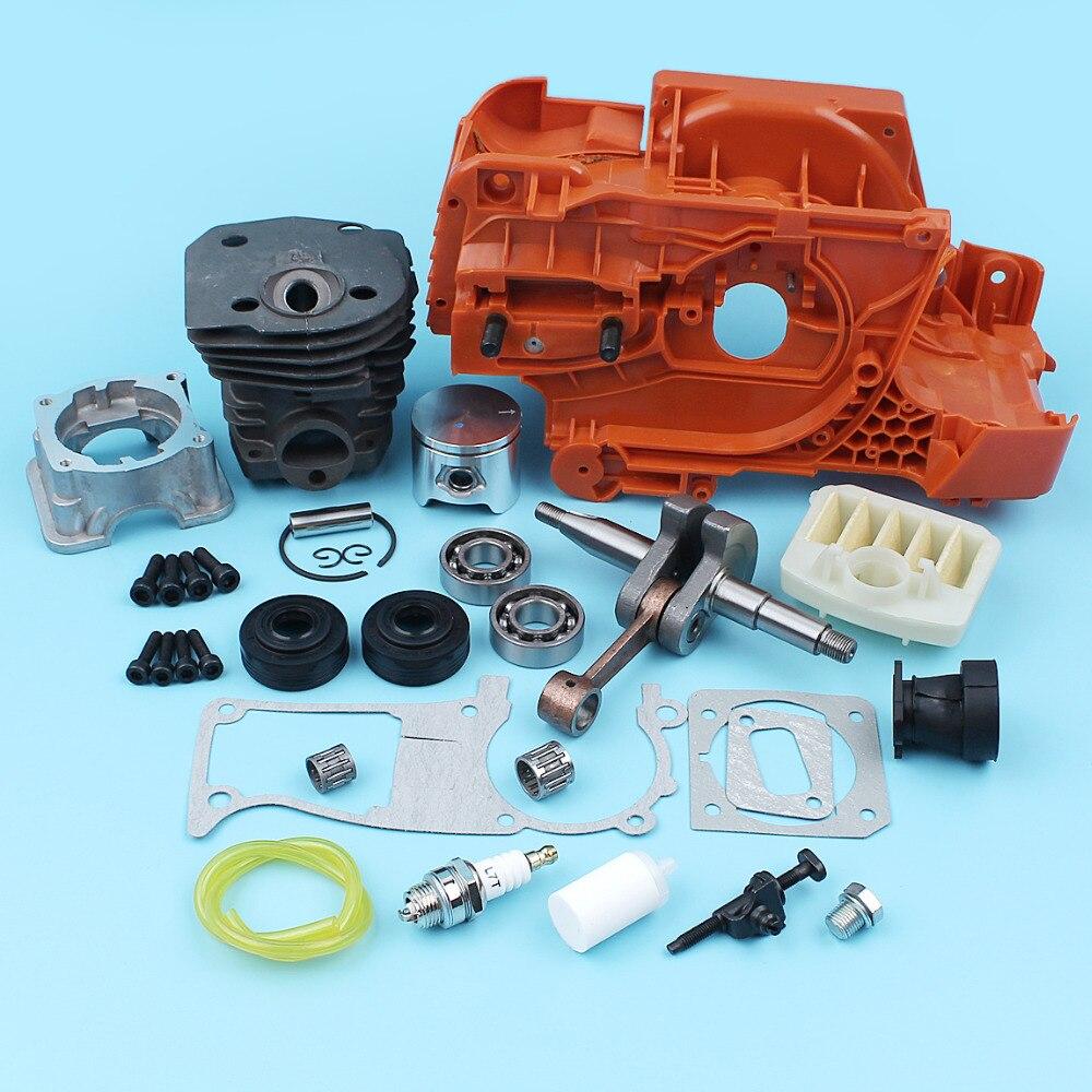 NIKASIL PLATED Crankcase 44mm Cylinder Piston Crankshaft Bearing For Husqvarna 350 340 345 Chain Adjuster #537253002 все цены