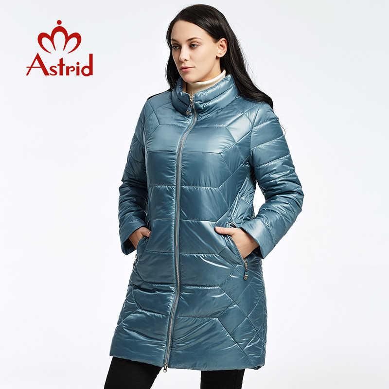 6014455373b 2019 Астрид Зимний пуховик модная удобная теплая куртка женская длинное  пальто утолщение Женский теплая одежда Высокое