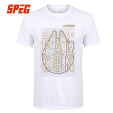 Tee Shirts Camisetas Star Wars YT 1300 Millennium Falcon Adult Round Collar short T-Shirt Low Price Men's Trendy T Shirts(China)