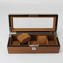 Деревянная Кожа Роскошные часы Коробка Чехол 5 сетки наручные часы упаковка Ho использовать держать Бизнес класс для брендовых часов дисплей/хранение использования