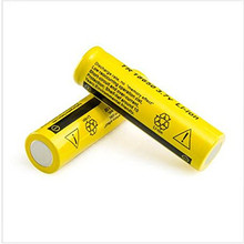 10 PCS/lot  18650 rechargeable battery F98 3.7V New Protected Original li-ion YELLOW