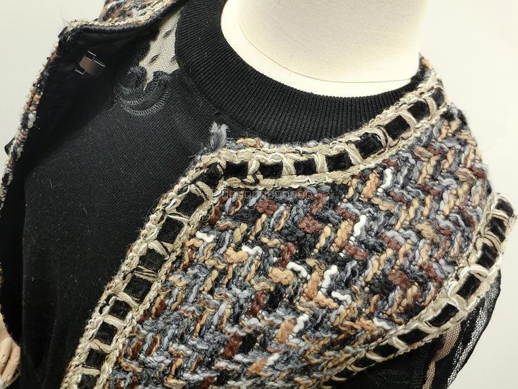 Qualité Mujer Élégante Manches Femme Sans D'hiver Colete Tweed Haute De Mode Gilet Dames Femmes Veste Chalecos B0xOqwdRC