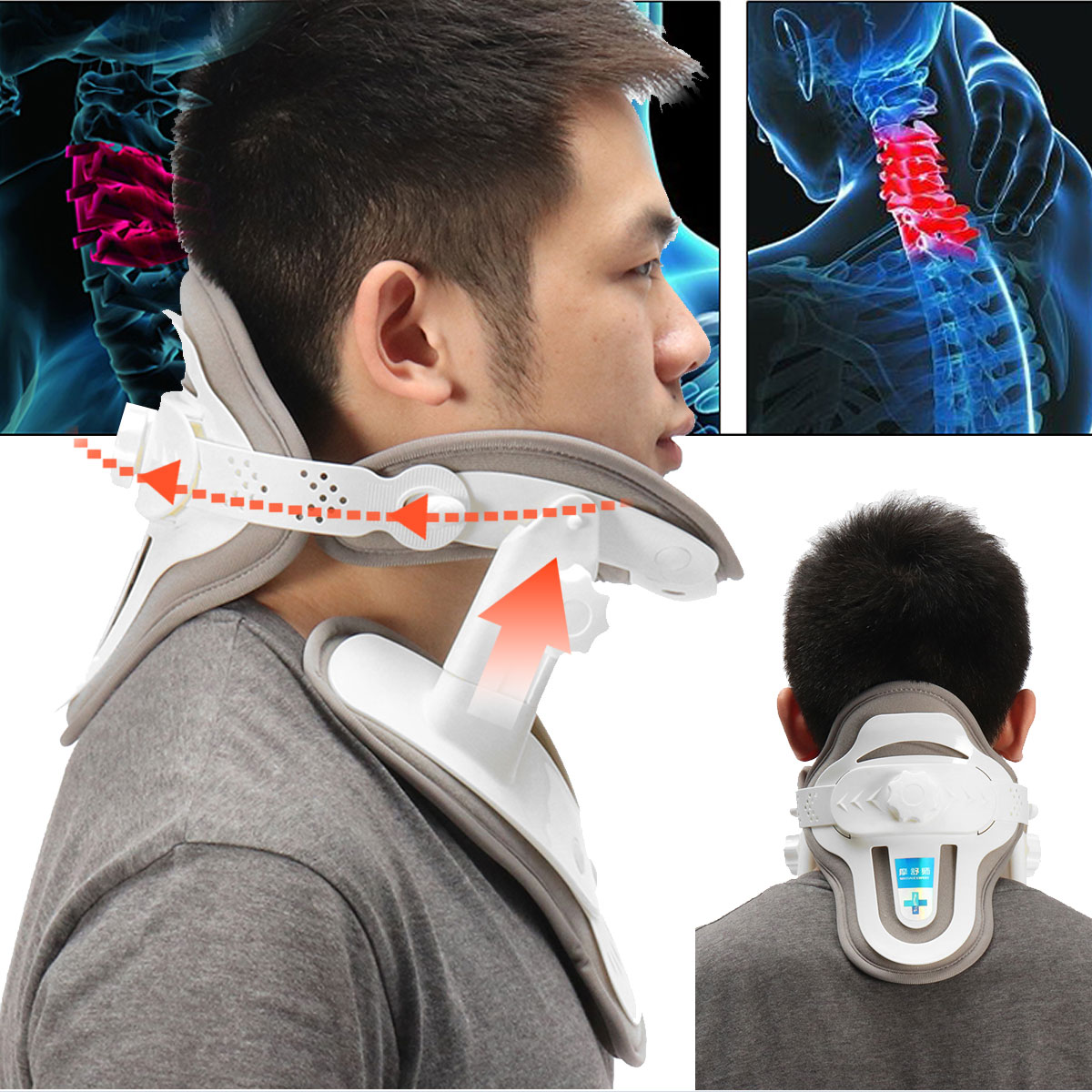 Household Adjustable Neck Brace Stretched Cervical Traction Inflatable Spondylosis Orthopedic Neck Collar Stretch Machine алмазная мозаика p28