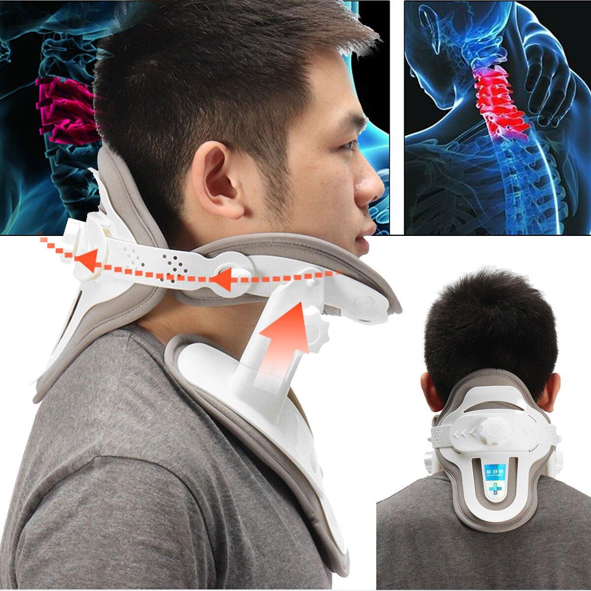 Household Adjustable Neck Brace Stretched Cervical Traction Inflatable Spondylosis Orthopedic Neck Collar Stretch Machine