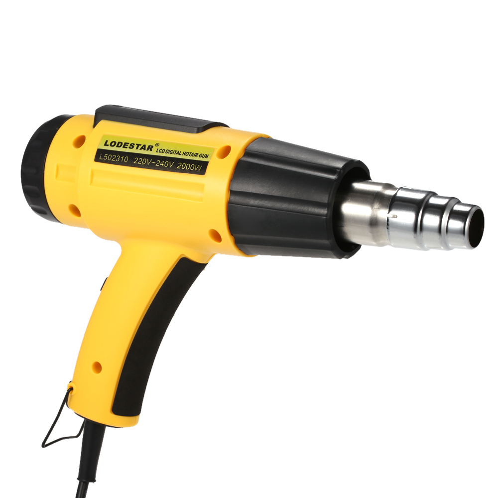 Image 2 - 2000W AC220 Digital Electric Hot Air Gun Temperature controlled Building Hair dryer Heat gun Soldering Tools Adjustable+ Nozzle-in Heat Guns from Tools on