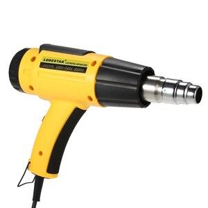 Image 2 - Sèche cheveux électrique numérique, pistolet à Air chaud numérique à température contrôlée, sèche cheveux de construction, outils de soudure, + buse