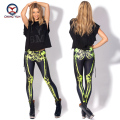 2016 women leggings hot fashion black skeleton printing free size elastic Lady leisure casual casual Leggings woman pencil pants
