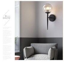 Simple Modern Molecular Spherical Wall Lamp Gold Black Nordic LED E27 110V-220V Paint Polishing Cutting Aisle Corridor