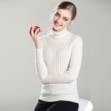 цена New Arrived 100% Pure Cashmere TOP quality Knitted thick turtleneck Pullovers thick slim sweaters for women lady's wholesale  онлайн в 2017 году