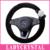 Ladycrystal Lã Quente de Pelúcia Direcção Do Carro Tampa Da Roda de Direcção Auto Roda Covers 38 CM Camélia Branca Styling Acessórios Interiores
