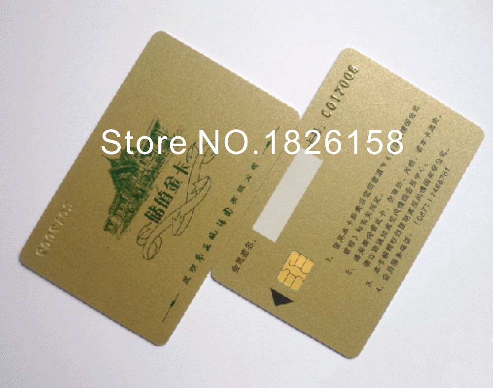 1000pcs Double sided Six colors Offset printing SLE 4442 card ISO 7816 Smart Card contact IC