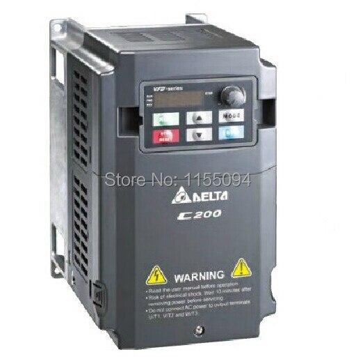VFD022CB21A-20 Delta VFD-C200 inverter AC motor drive 1 phase 220v 2.2KW 3HP 11A 600HZ new in box vfd007e11a delta vfd e inverter ac motor drive 1 phase 110v 750w 1hp 4 2a 600hz new in box