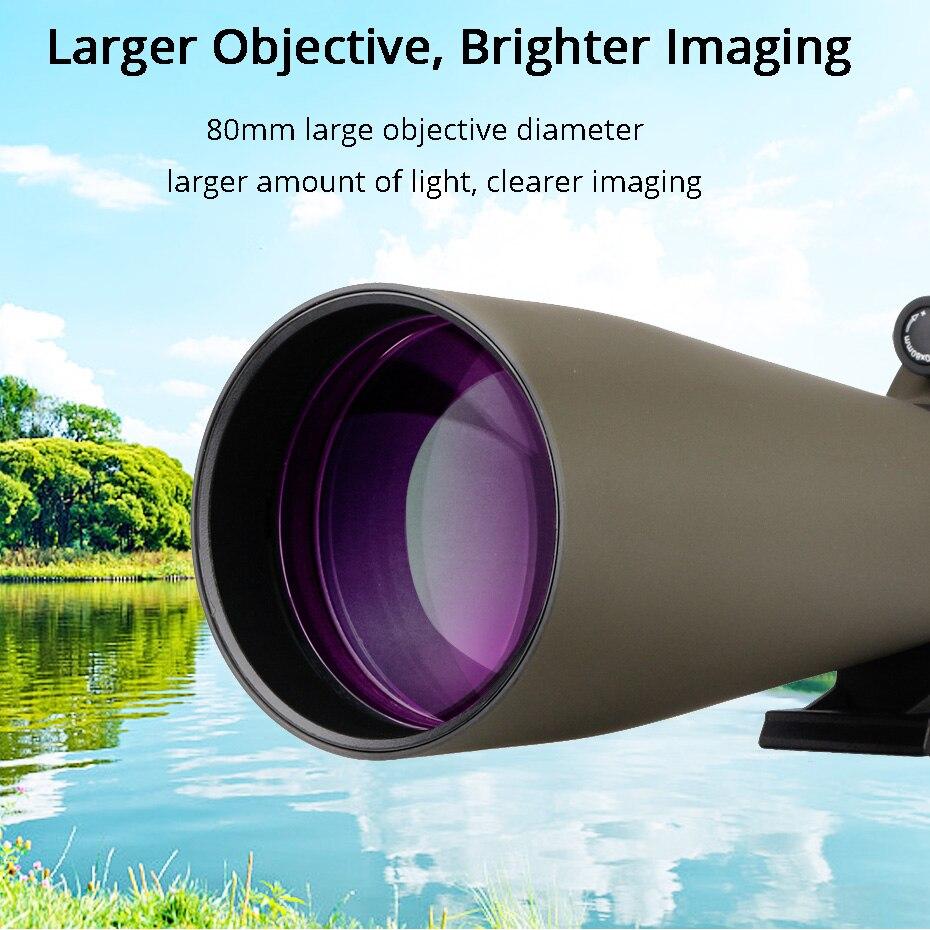 telescópio multi-revestido óptica refrator spyglass telescópio à