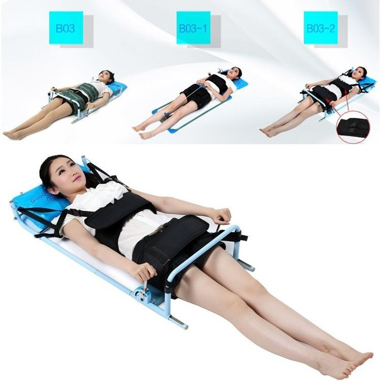Efficent Cervical Spine Lumbar Spine Traction Bed for Lumbago Low Back Pain Therapy Massage Body Stretching