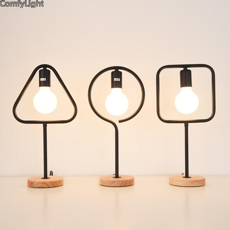 Rétro led vêtements de protection Romantique desginer fer abat-jour Moderne Dimmable lampe de bureau Maison Romantique Lampe de Lecture lumière de bureau Étude