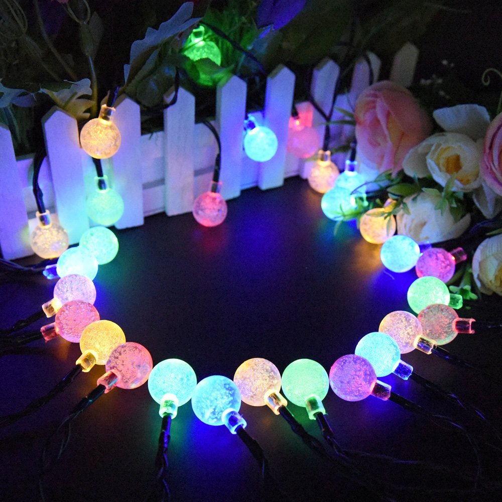T-SUNRISE Solar String Lights Outdoor Lighting LED Decoration Fairy Light for Wedding Ga ...