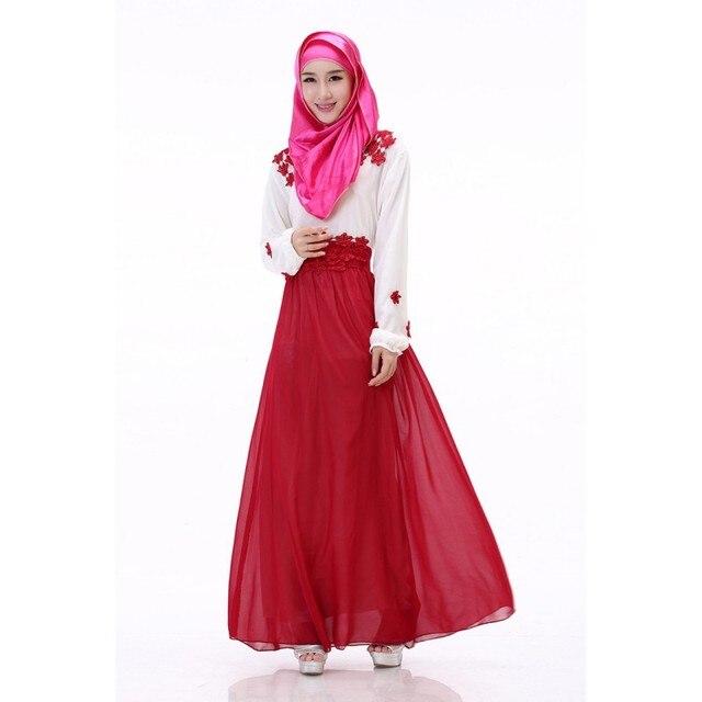 Женщины Кафтан Абая Джилбаба Исламская Мусульманин Коктейль С Длинным Рукавом Платье Макси