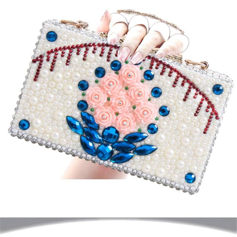 Véritable Mariée With Rose Haute De Heel En forme Bag Sacs Grand 12cm 10cm Femmes Talons Cuir Bag 14cm Taille Perle Pompes Bourse Cristal Plate Chaussures Et À Correspondant Bag Mariage xqSTwOP