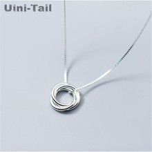 Pendant Necklace Jewelry 925-Sterling-Silver Fashion New Gift Wild Listing Temperament