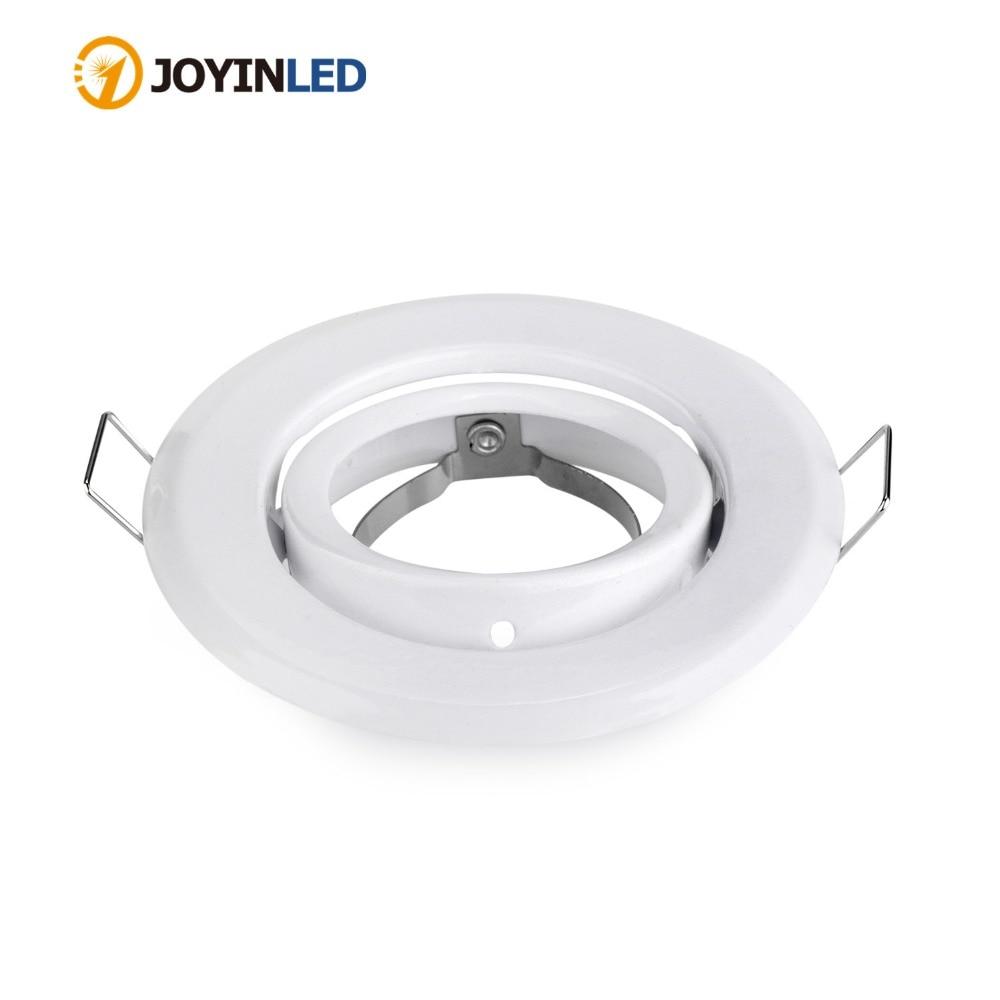10pcs/lot Round White adjustable mr16 gu5.3 gu10 spotlight halogen bulb frame holder downlight ceiling light fixture GU10 MR16|Spotlights| |  - title=