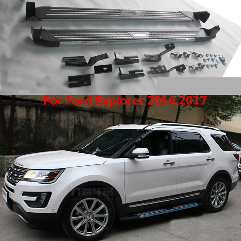 For Ford Explorer 2016.2017 Auto Running Boards Side Step Bar Pedals High Quality Brand New Flagship Nerf Bar 4 hammered blk hd oval side step nerf bars running boards 05 11 dakota club cab