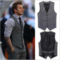 New Fashion Single-breasted Plus Size Slim Fit Chaleco Hombre Sleeveless Cotton Waistcoat Suit Vest Mens Dress Vest