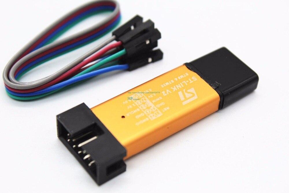 Programmer ST-LINK V2 STM8/STM32 LINK-V2 ST Downloader Debugger Golden Shell