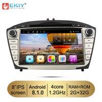 EKIY 8'' Car DVD GPS Navigation System for Hyundai Tucson IX35 2Din Android 8.1 Stereo Radio Audio Music Video Multimedia Player