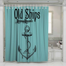 3D Anchor Beach Shower Curtain Bathroom Waterproof Polyester Printing Curtains for