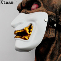 Hot Movie Vintage Japanese Buddhist Evil Oni Noh Hannya Mask Halloween Party Costume Horror Ghost Face Mask Half Face Mask Toys