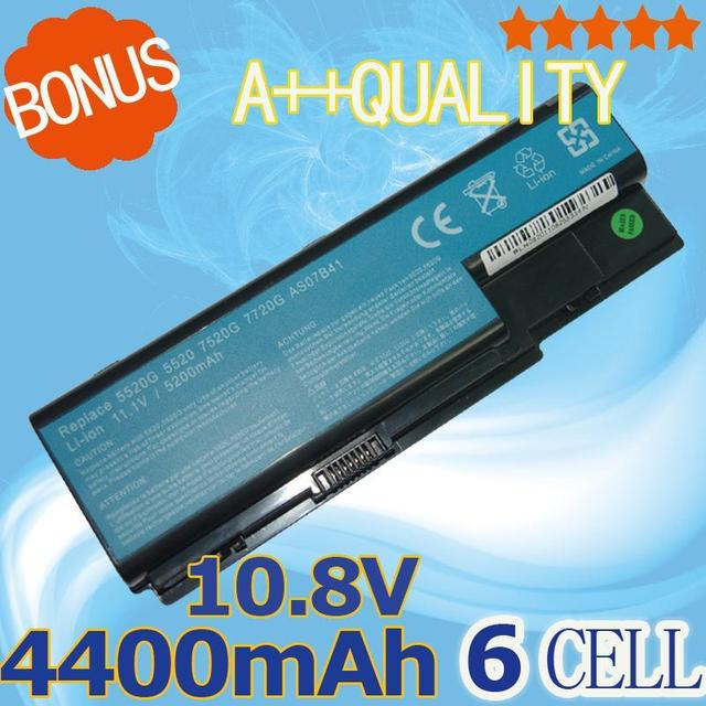 4400mAh AS07B31 AS07B32 AS07B41  Battery For Acer Aspire 6935 3935G 7220 7230 7235 7330 7520 7520G 7530 7530G 7535 7540 7720
