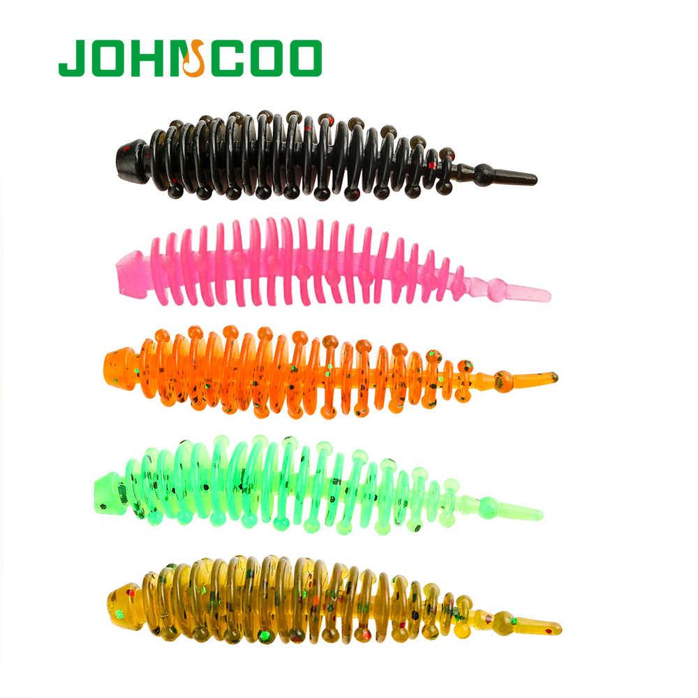 JOHNCOO UL pêche flottant leurre de pêche TPR souple Silicone leurre 0.85g 1.3g appâts souples 12 pièces nagbaits UL gabarits leurre truite