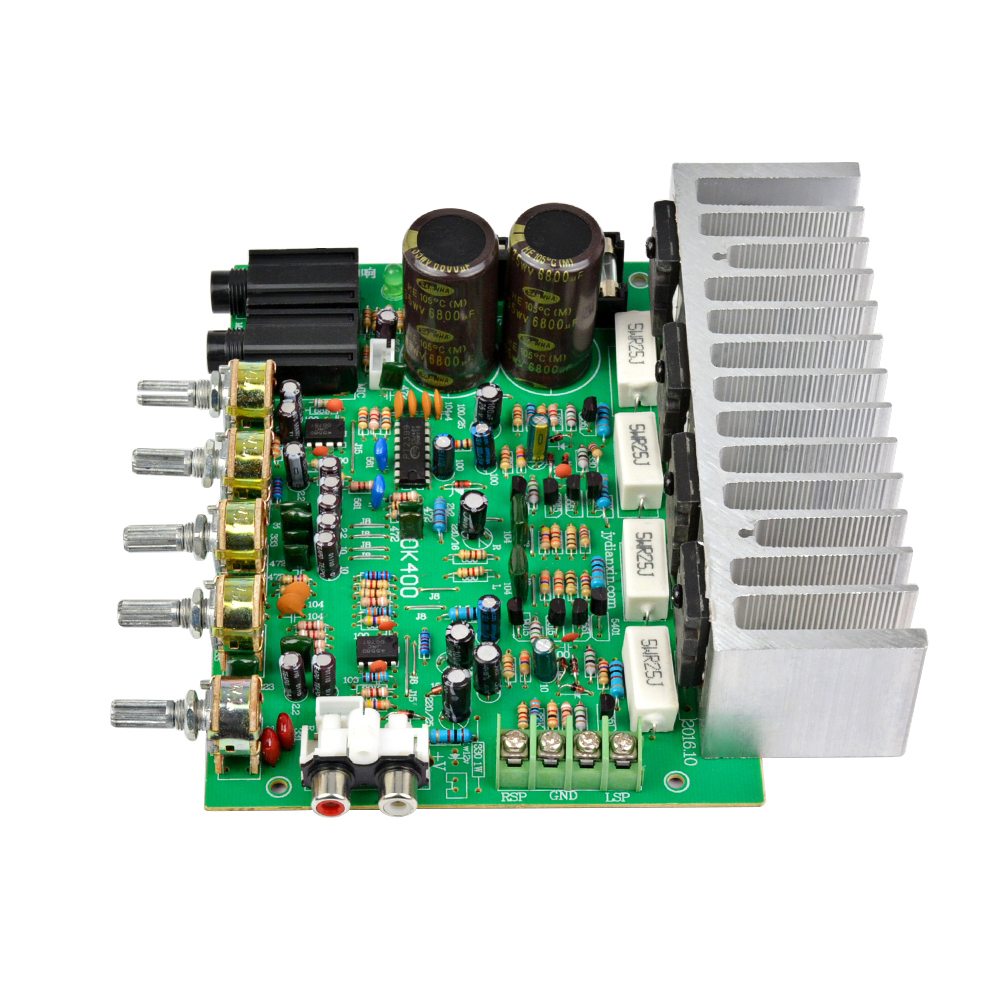 Aiyima 250W+250W Audio Power Amplifier Board HIFI Stereo Amplification Digital Reverb Power Amplifier With Tone Control 10pcs lot pcm1774rgpr bb1774 1774 pcm1774 93db snr low power stereo dac with hp amplifier s w control