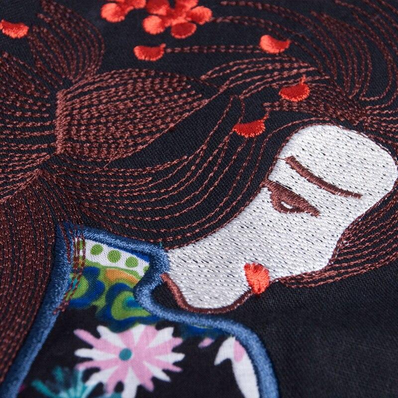 Embro moulin automne manteaux pour femmes vintage royal broderie style chinois haut de gamme fleurs dame lâche trench manteau femme M-XXL - 6