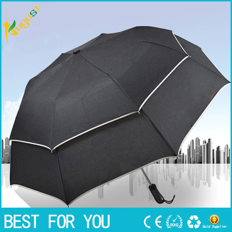 10pcs/lotPersonalized double-layer golf folding umbrella creative large sunny business gift advertising umbrella
