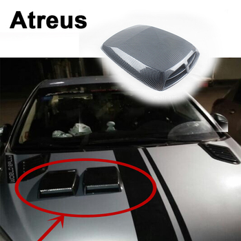 Atreus Carbon Fiber Car Decorative Air Flow Vent Cover Hood Stickers For BMW e46 e39 e36 Audi a4 b6 a3 a6 c5 Renault duster Lada image