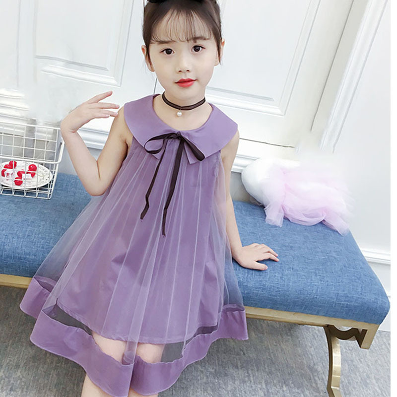 peter pan collar tulle kids party dress for girls beige purple a line mesh baby girl dress 2 years 12 10 8 6 4 sundress clothing