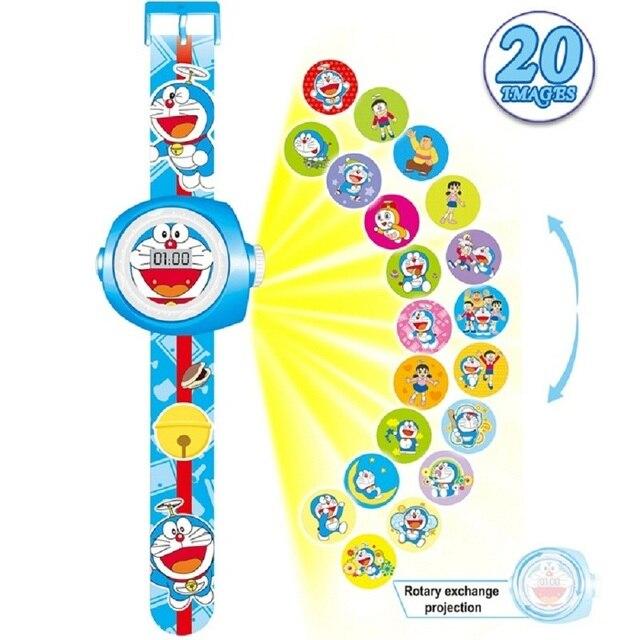 Мультфильм 3D проецируемого изображения Человек-паук дети часы для маленьких девочек мальчиков montre garcon enfant Микки дети цифровые наручные часы