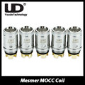 5 unids/lote youde ud mesmer mocc kanthal atomizador cabeza bobina 0.5ohm y 1.8ohm cigarrillo electrónico para ud mesmer tanque/ud tidus vape