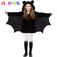 Velvet batman Cosplay Halloween Black hooded Costumes boys girls playsuit with wing cape kids adult party clothes 2 to15 yrs