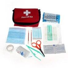 Elegante Paquete de Supervivencia De La Emergencia Kit de Primeros Auxilios Bolsa de Médico de Viaje Deportes Hogar Pastilleros Caja de Herramientas Esenciales de Salud Kits JUL8