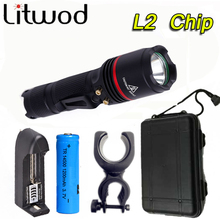 Panic Saturday Litwod Z30911 XM-L L2 5000LM Aluminum Waterproof CREE LED Flashlight Torch light for 14500 Rechargeable Battery or AA