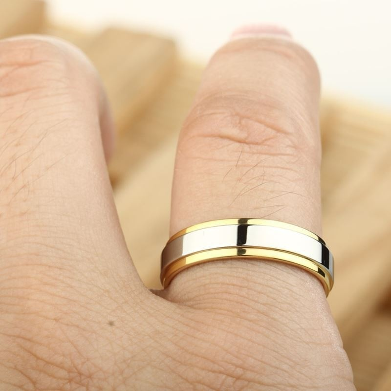 001f2894e6d Aliexpress.com   Buy Simple Couple Titanium Steel Wedding Rings women men s  jewelry anniversary marriage Best Fashion Gift from Reliable Wedding Bands  ...