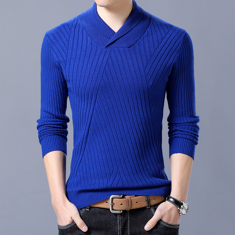 Men Long Sleeve Cotton Sweater Pullovers Outwear Man Buttons V-Neck sweaters Tops Loose Solid Fit Knitting Clothing