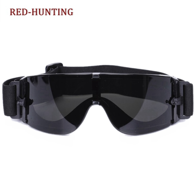 6441b23cf76 Outdoor Shooting Gear Military Airsoft X800 Tactical Goggles USMC Tactical  Sunglasses Glasses Army Paintball Goggles